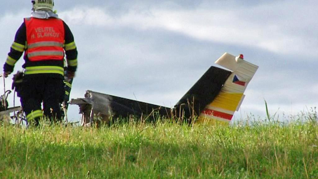 Pád malého letadla u Stanovic Karlovarsku