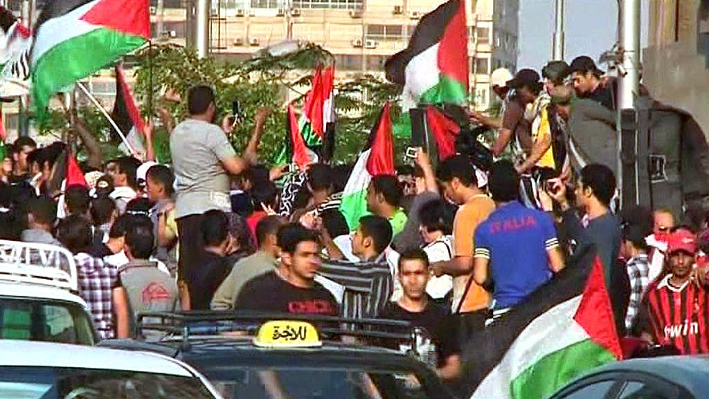 Propalestinské demonstrace v Egyptě