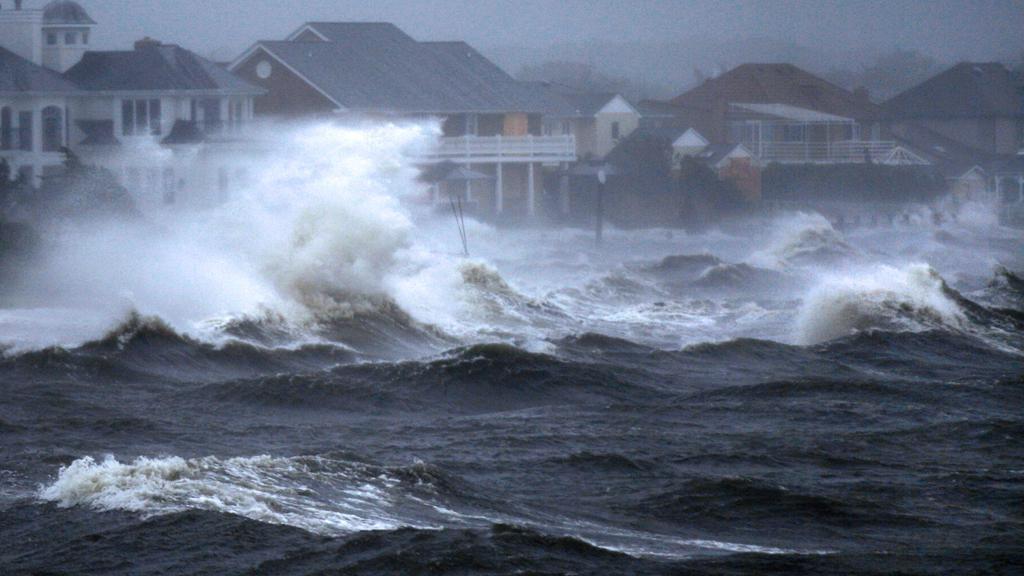 Hurikán Irene na Bayshore na Long Islandu