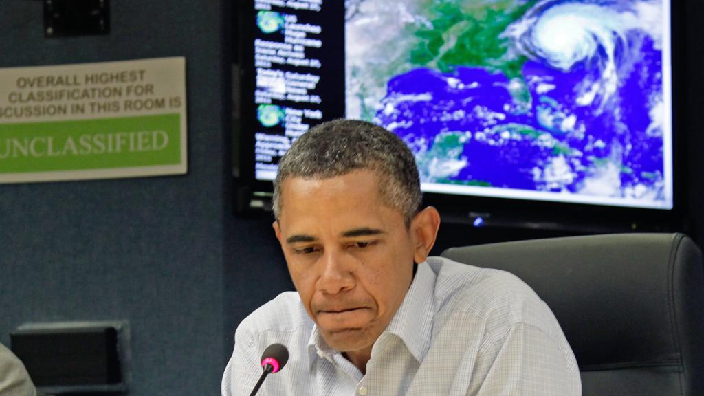 Barack Obama sleduje pohyb hurikánu Irene