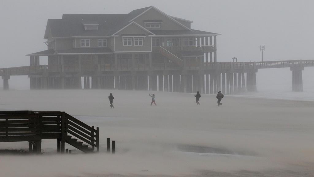Hurikán Irene v Nags Head v Severní Karolíně