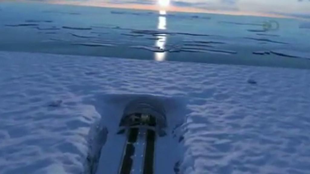 Schéma tunelu pod Beringovým průlivem
