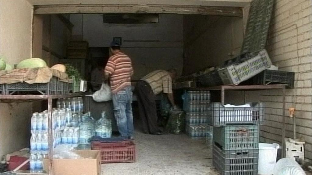 Práce v ulicích Bagdádu