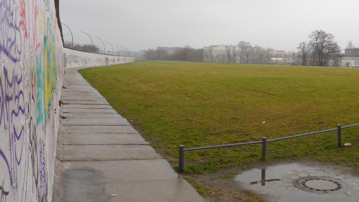 Břeh Sprévy za Berlínskou zdí