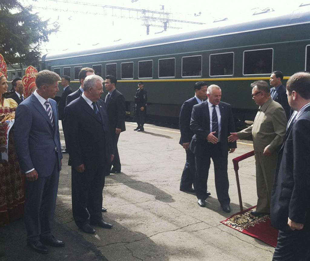 Kim Čong-il v Rusku