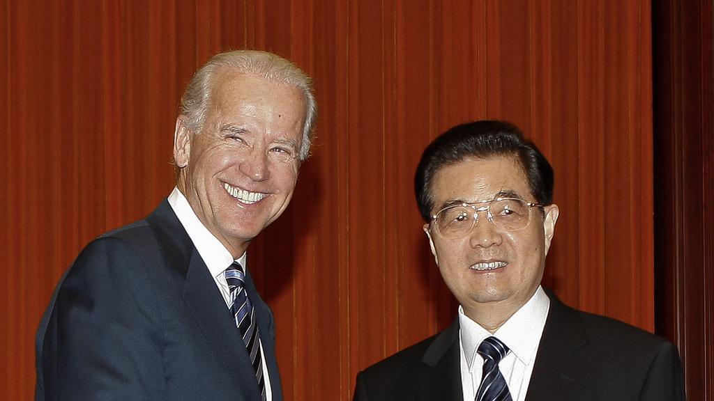 Joe Biden a Chu Ťin-tchao