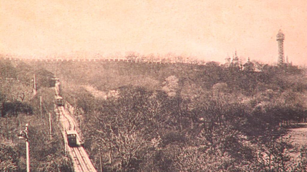 Dobová fotografie rozhledny na Petříně