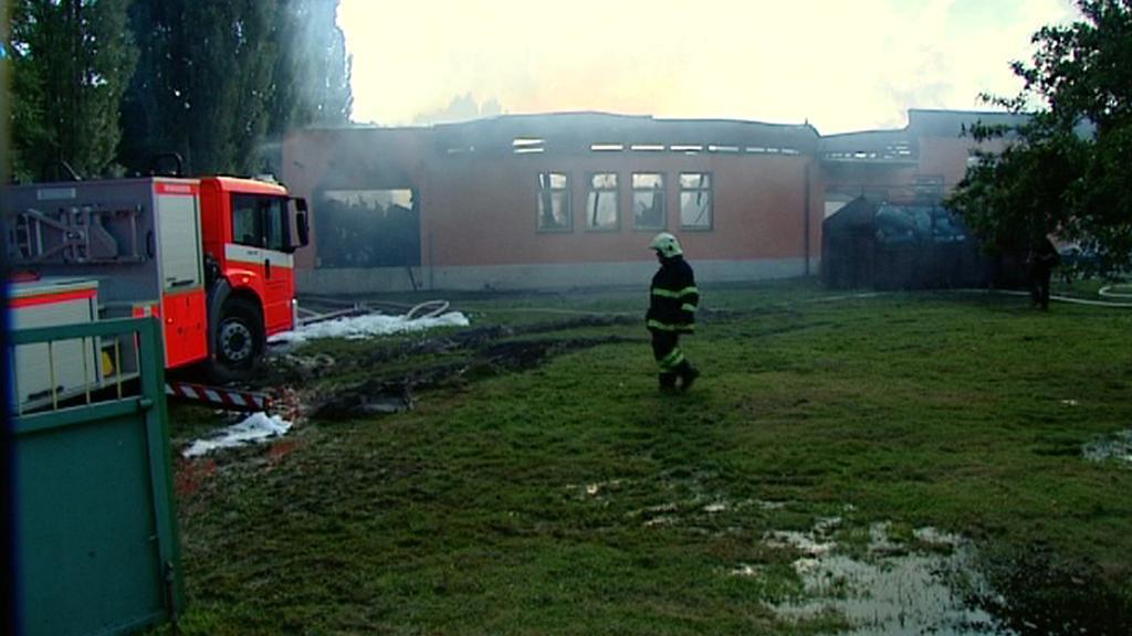 Požár v Lubenci