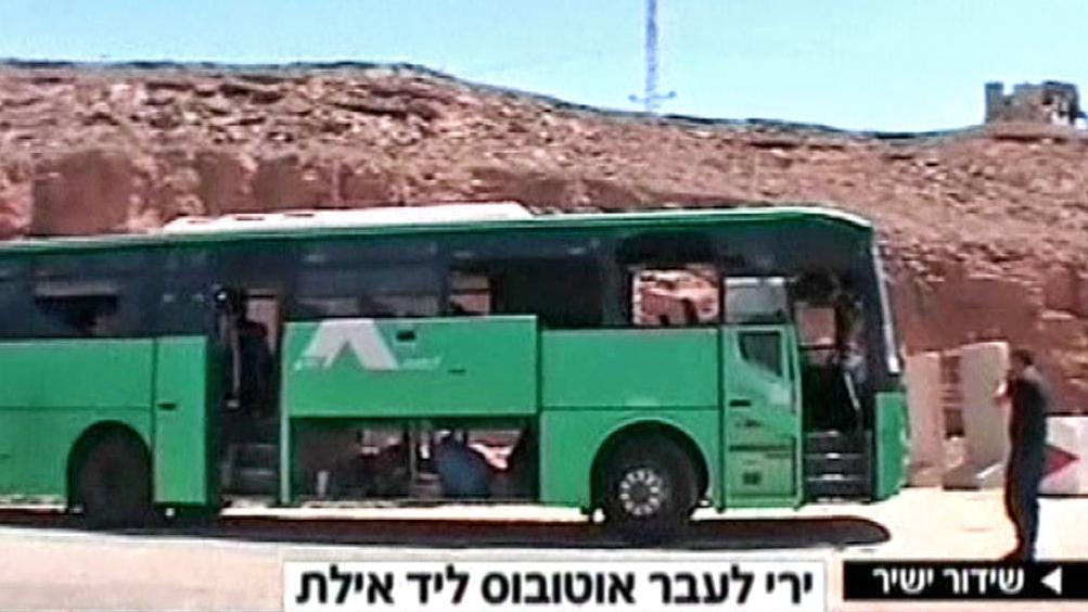 Napadený izraelský autobus u Ejlatu