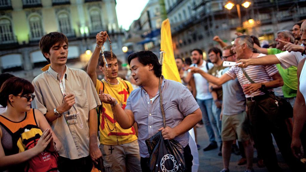 Madridská demonstrace proti Světovým dnům mládeže