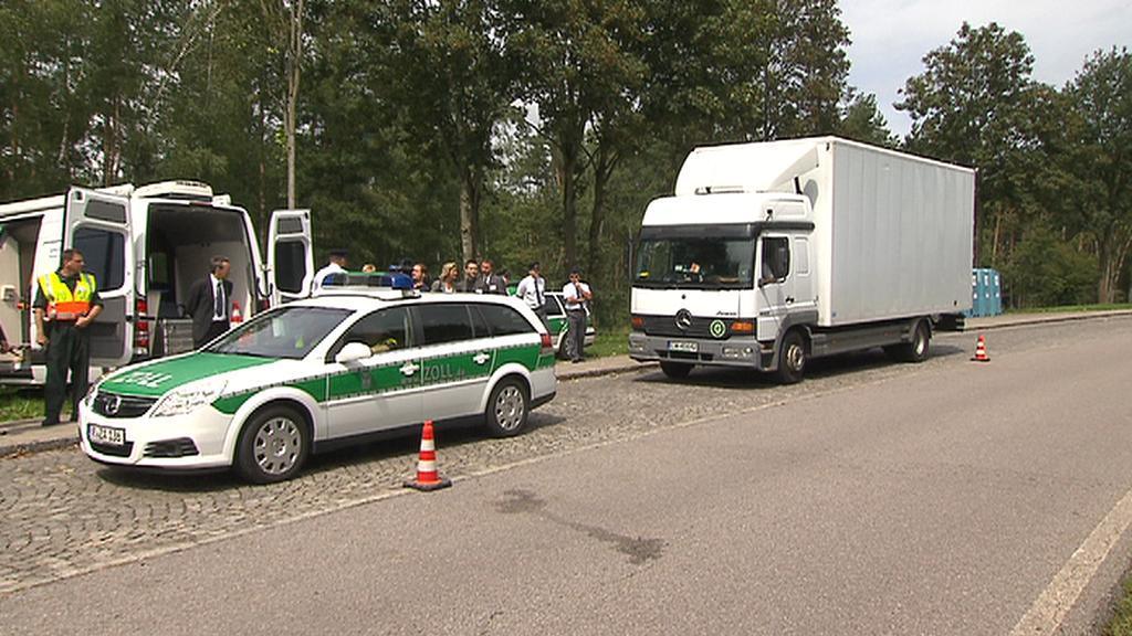 Namátková celní kontrola na německé dálnici