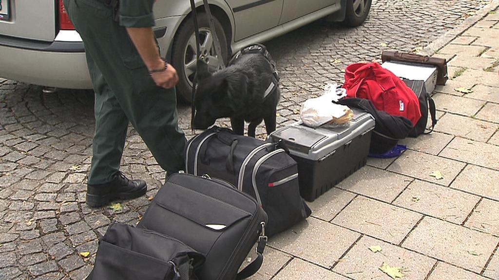 Namátková kontrola zavazadel v Německu
