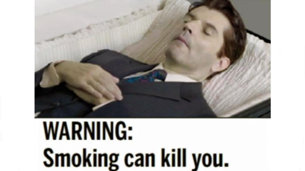Varování před kouřením na krabičkách cigaret