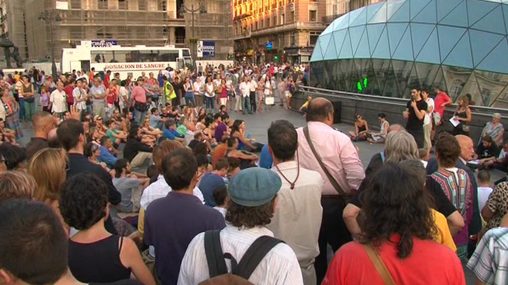 Španělé protestují proti situaci v zemi