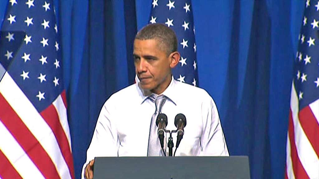 Barack Obama na setkání s voliči