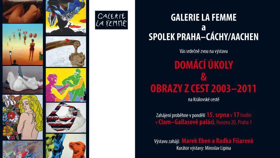 Galerie La Femme / detail pozvánky