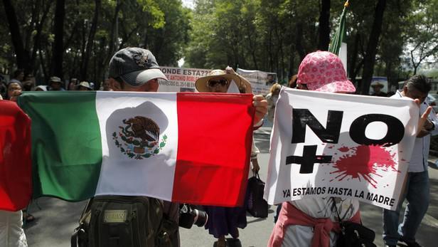 Mírové protesty v Mexico City