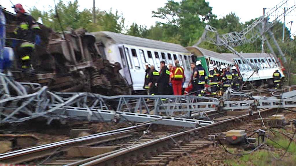 Nehoda polského vlaku u Baby