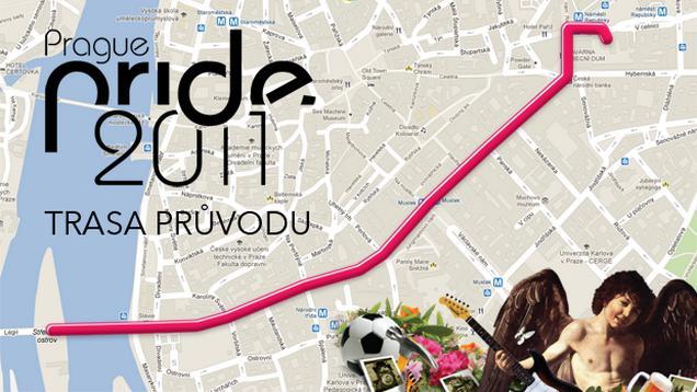 Prague Pride - trasa průvodu