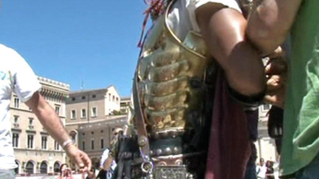 Zatčení falešného gladiátora