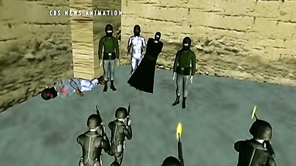 Animace zabití Usámy bin Ládina