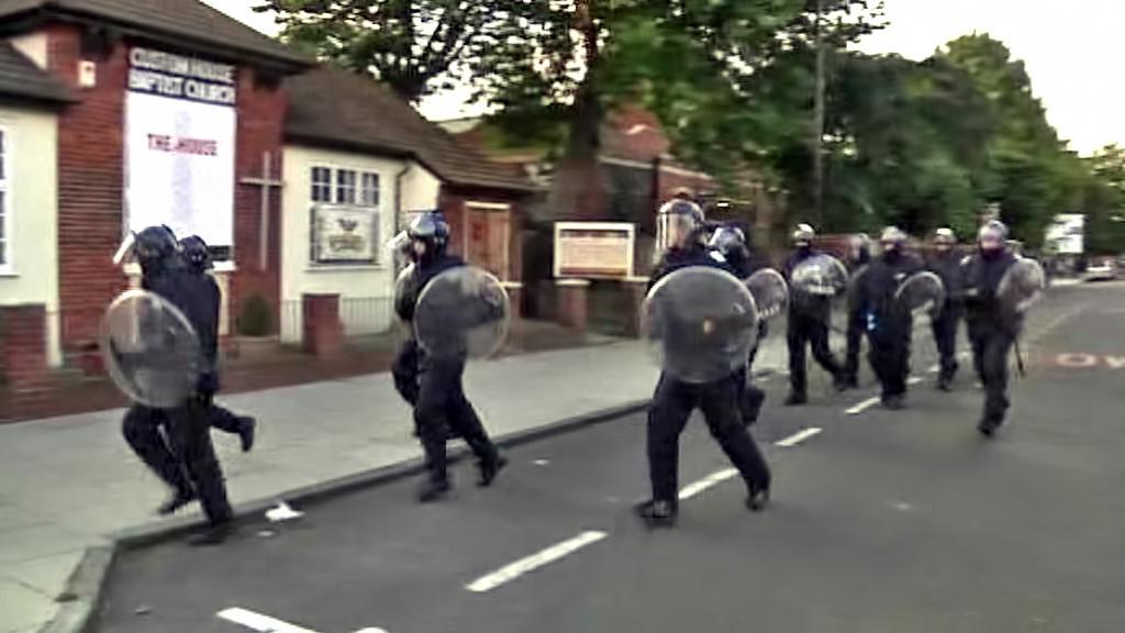 Zásah britské policie