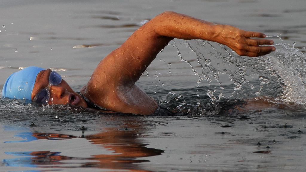 Diana Nyadová při svém pokusu o přeplavání Floridského průlivu