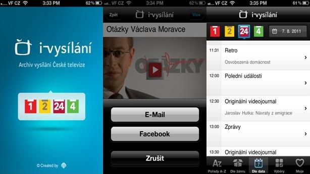 iVysílání v iPhonu