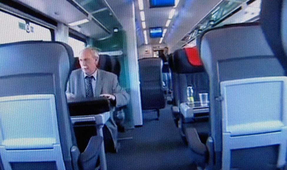 V moderním vlaku