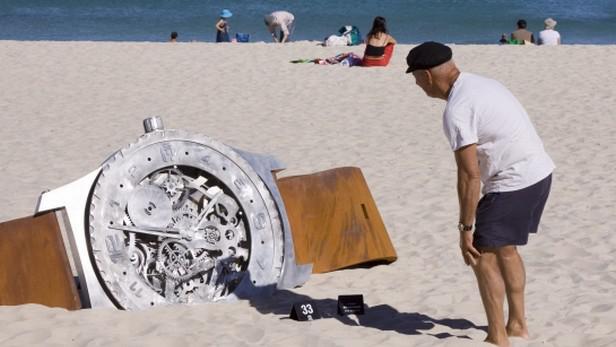Street Art na pláži v Západní Austrálii