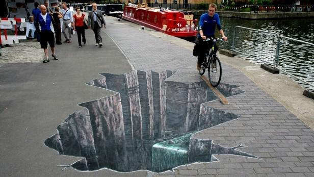 3D kaňon v londýnském Regent's Parku
