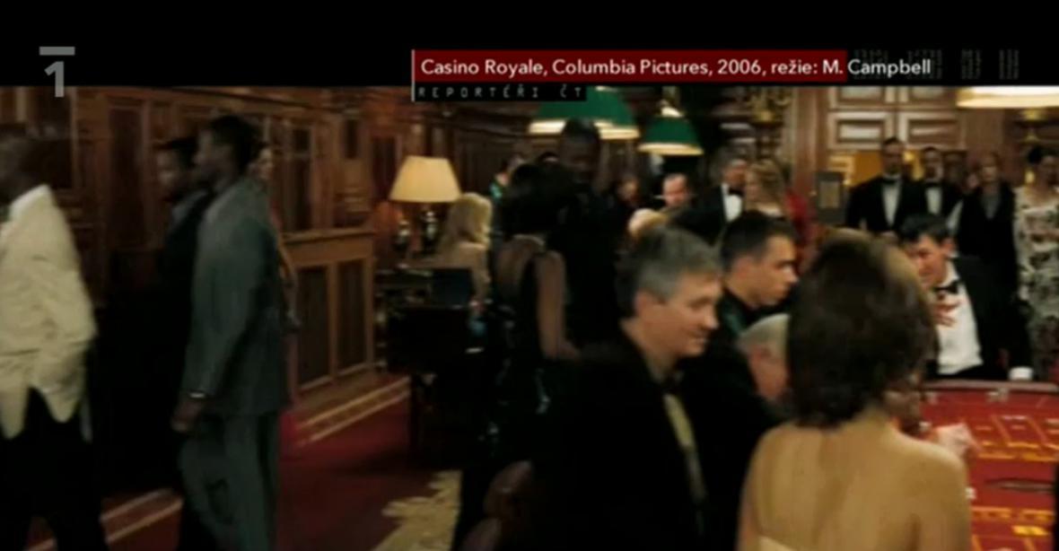 Film Casino Royale natáčený v Císařských lázních v Karlových Varech