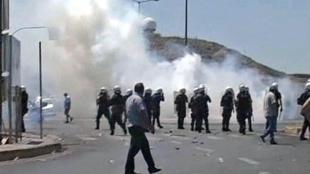 Protest řeckých taxikářů