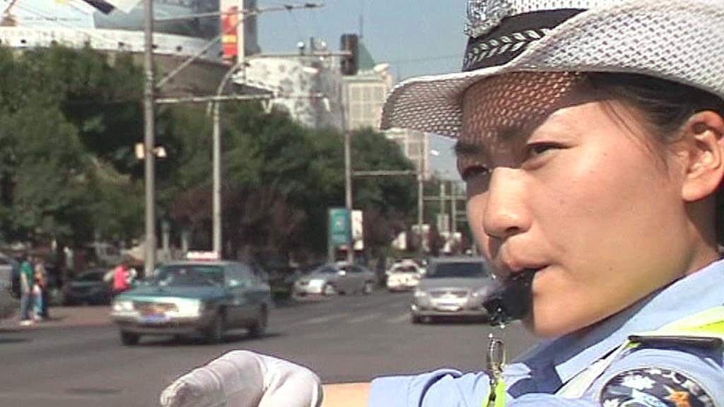 Čínská dopravní policistka
