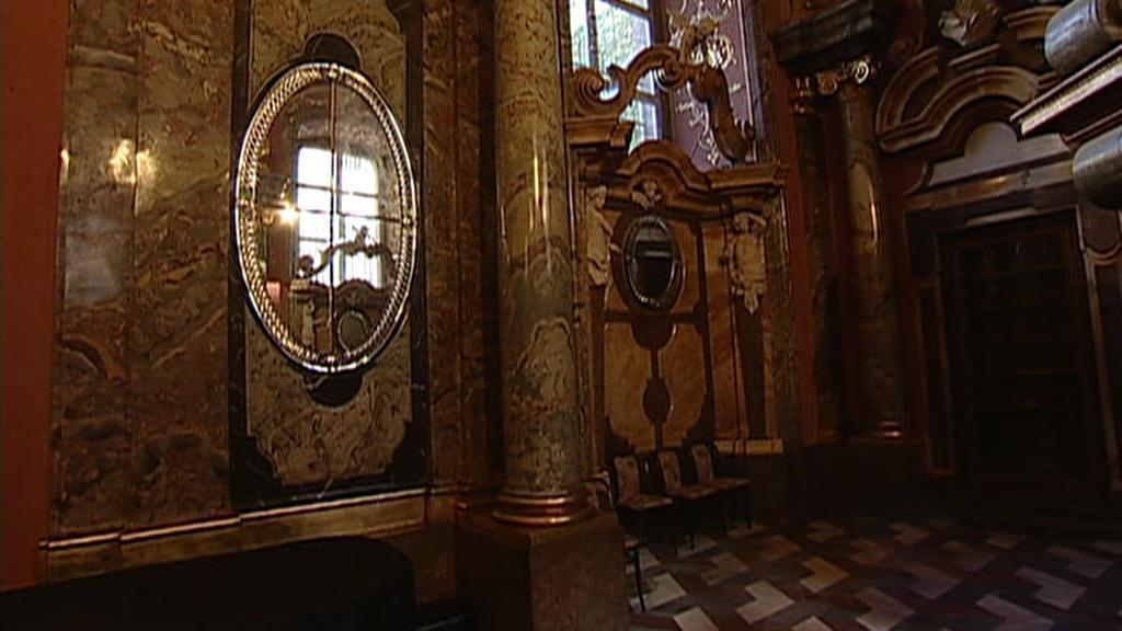 Zrcadlová kaple Klementina / detail interiéru