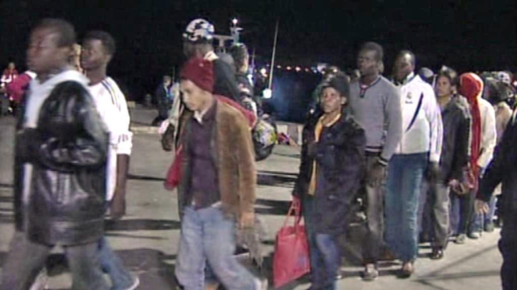 Severoafričtí uprchlíci na Lampeduse