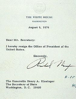 Rezignace Richarda Nixona