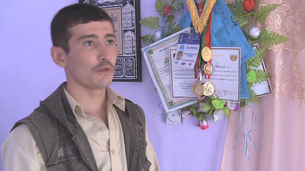 Afghánský boxer Mustafa