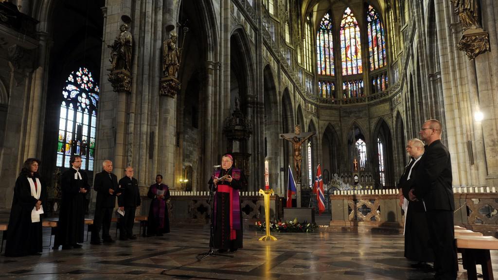 Bohoslužba za oběti norského atentátu