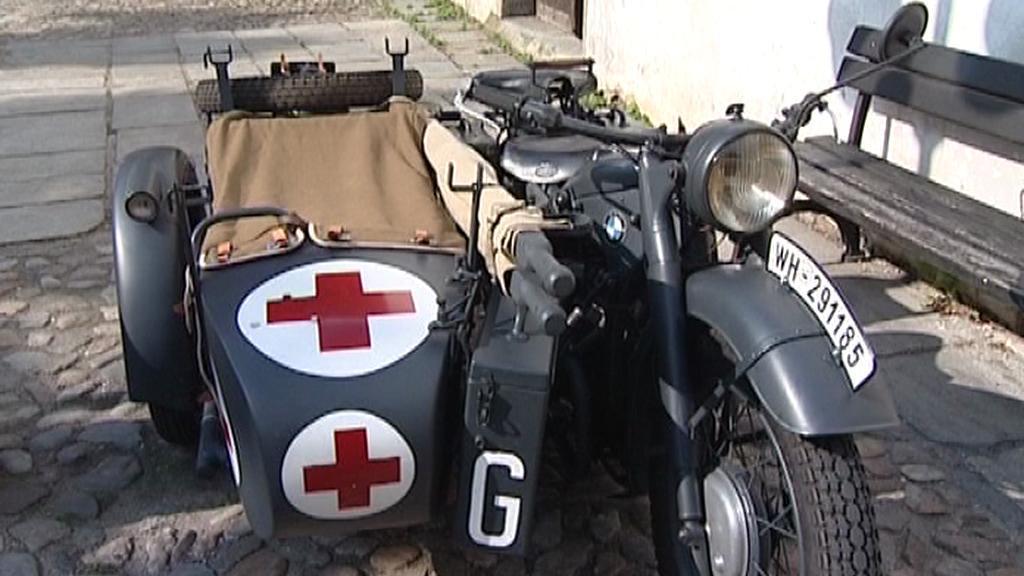 Válečný zdravotnický motocykl