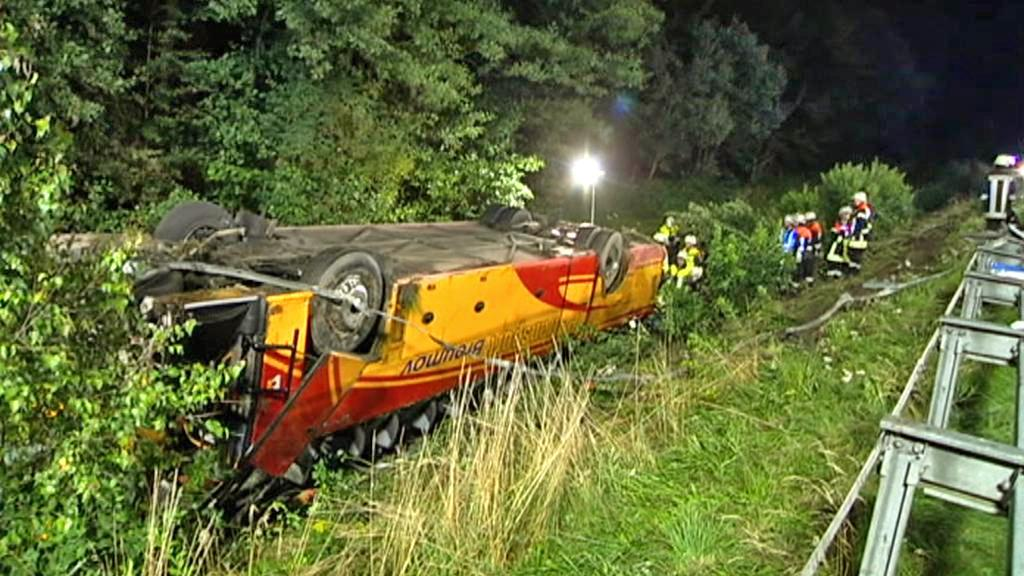 Nehoda českého autobusu u Schwarzenfeldu