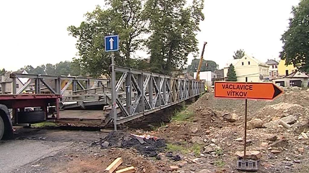 Objížďka kolem chrastavského mostu