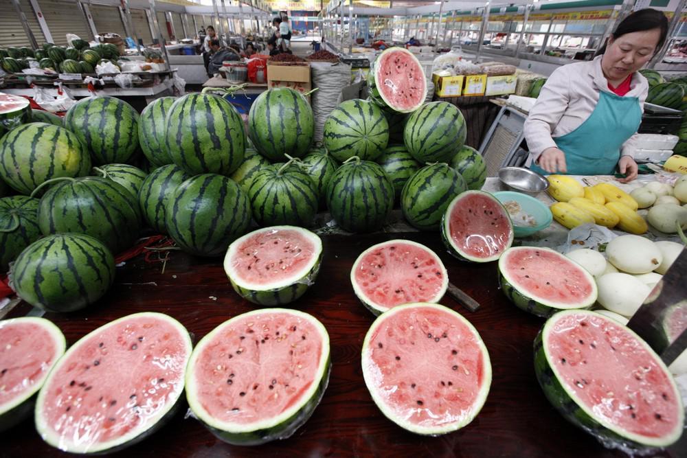 Melouny na čínském tržišti