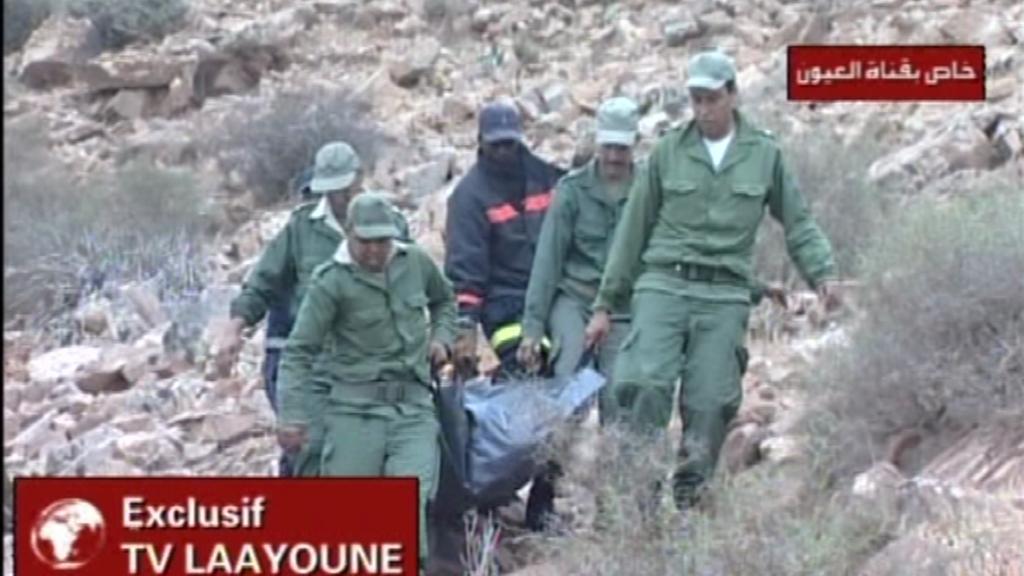 Zachranné práce po pádu vojenského letadla v Maroku