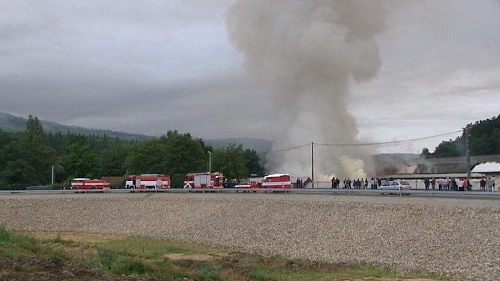 Požár v Holoubkově