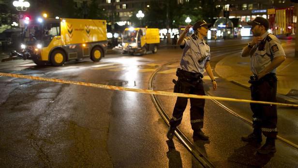 Bezpečností opatření po bombovém útoku v Oslu