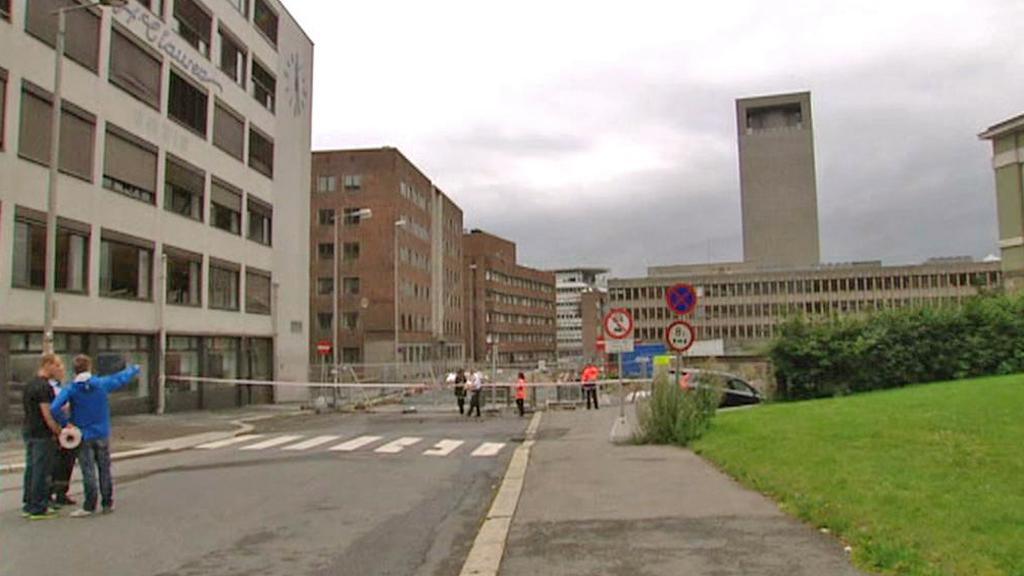 Následky exploze v Oslu