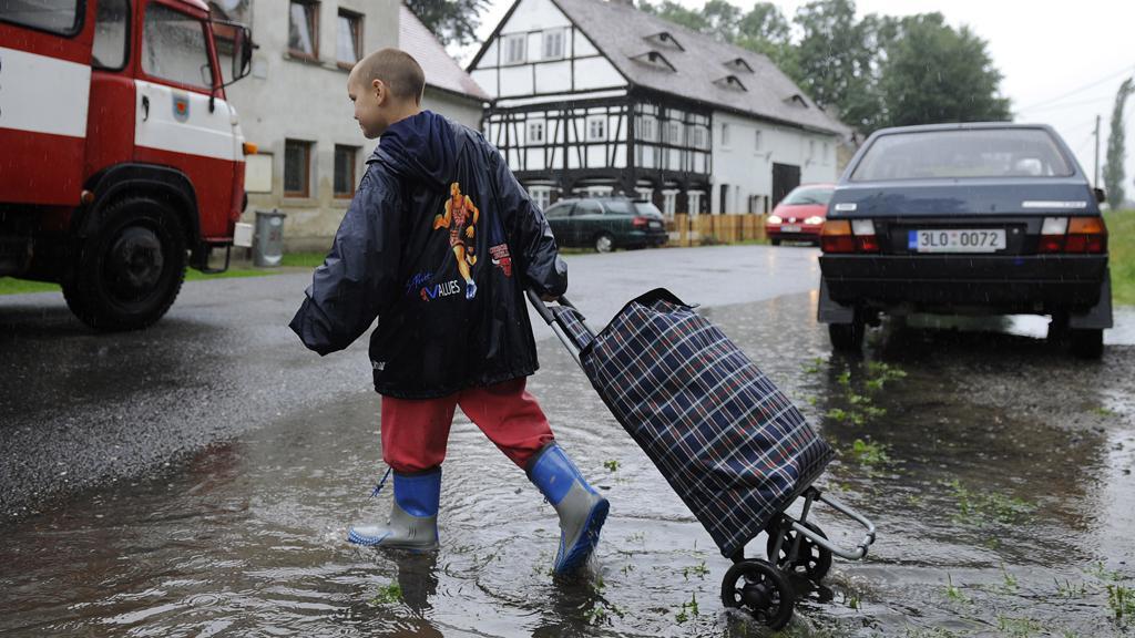 Evakuace Vísky u Višňové na Liberecku