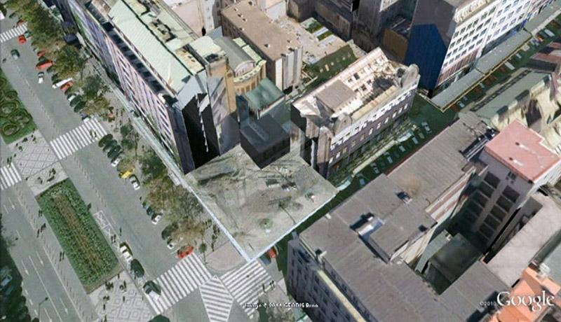 Vizualizace místa po demolici domu