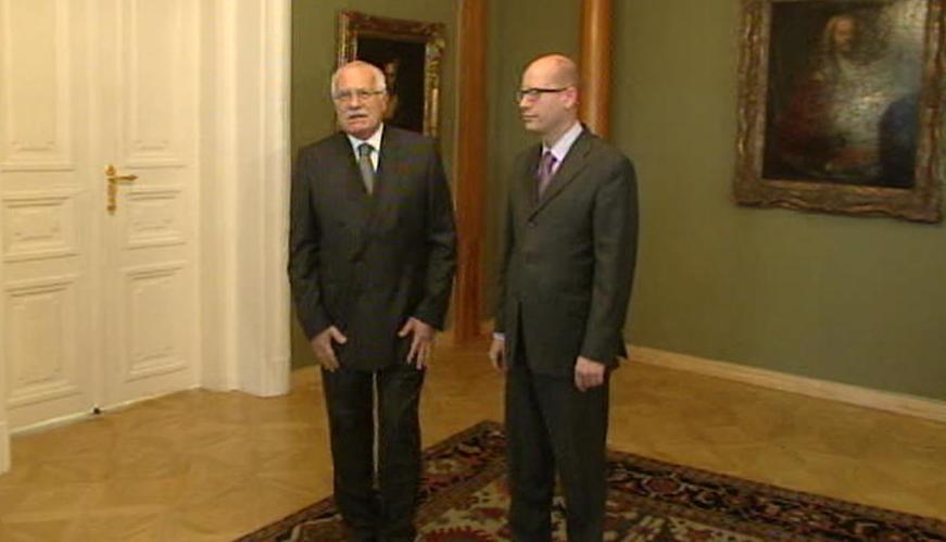Václav Klaus a Bohuslav Sobotka